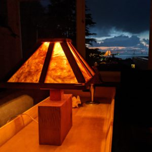 Craftsman Style Lamp from Reclaimed Wood and Plastic Cups