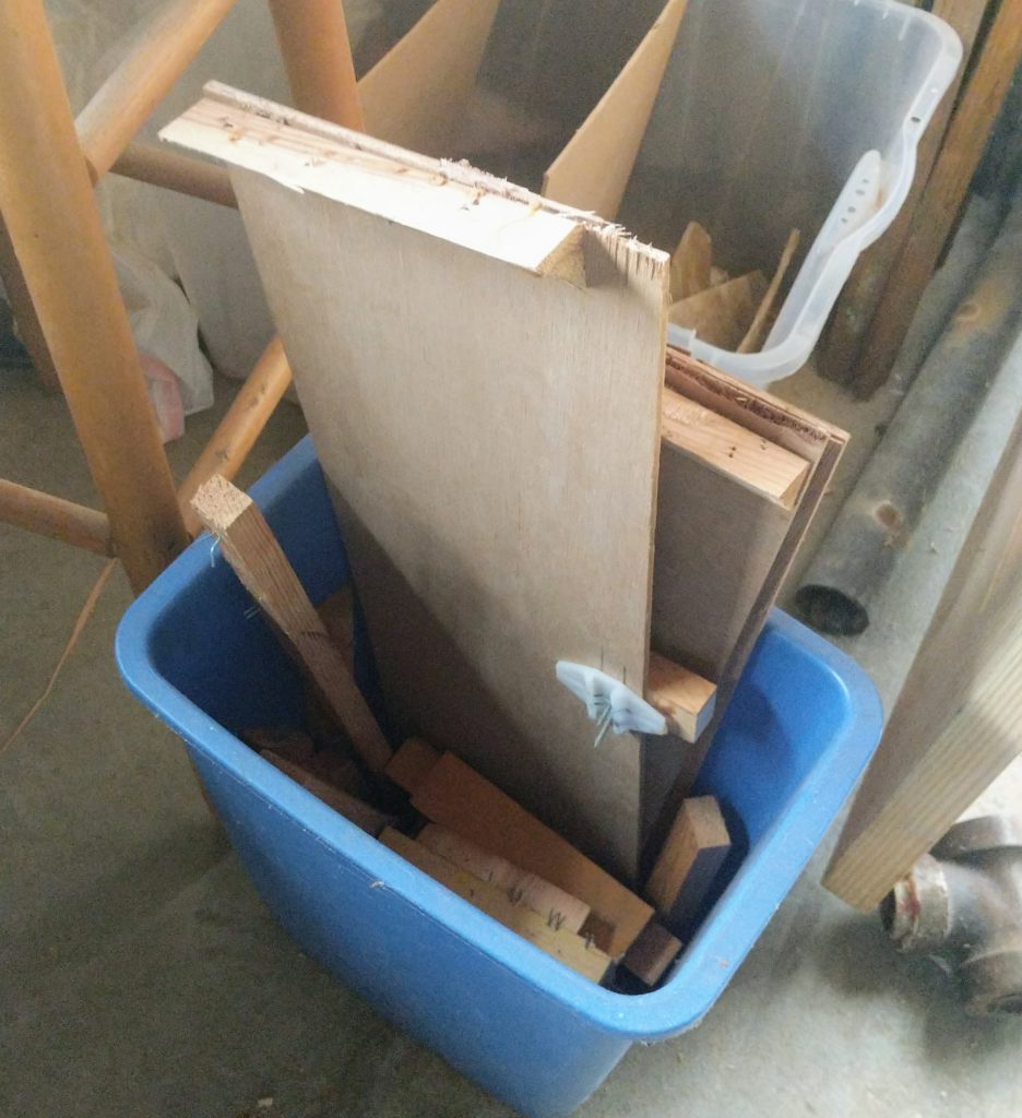 Scrap Plywood in the Garbage